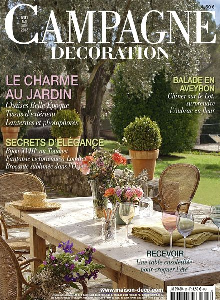 download campagne decoration 81 mai juin 2013 pdf magazine. Black Bedroom Furniture Sets. Home Design Ideas
