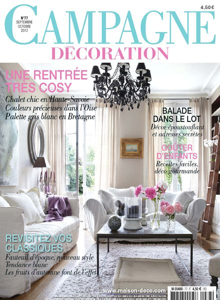 Download campagne decoration 77 septembre octobre 2012 pdf magazine - Home decoration campagne ...