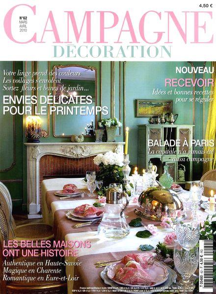 download campagne decoration 62 march april 2010 pdf magazine. Black Bedroom Furniture Sets. Home Design Ideas