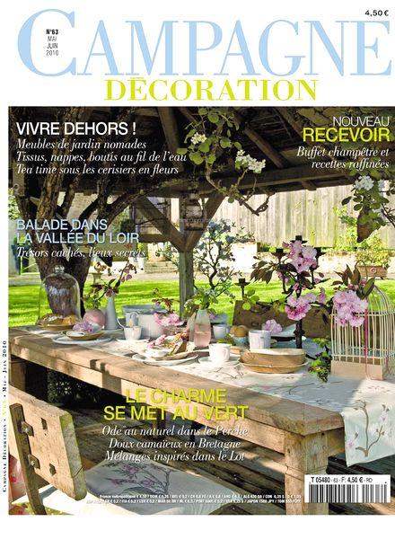 download campagne decoration 63 may june 2010 pdf magazine. Black Bedroom Furniture Sets. Home Design Ideas