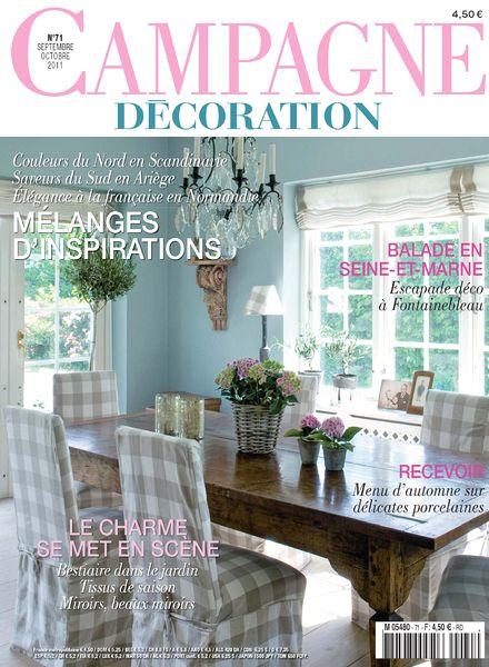 download campagne decoration 71 september october 2011 pdf magazine. Black Bedroom Furniture Sets. Home Design Ideas