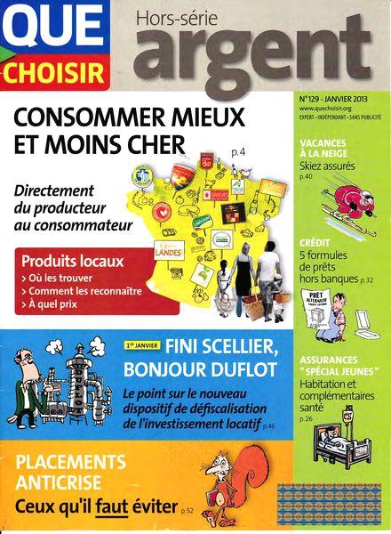 download que choisir hs n 129 janvier 2013 pdf magazine. Black Bedroom Furniture Sets. Home Design Ideas