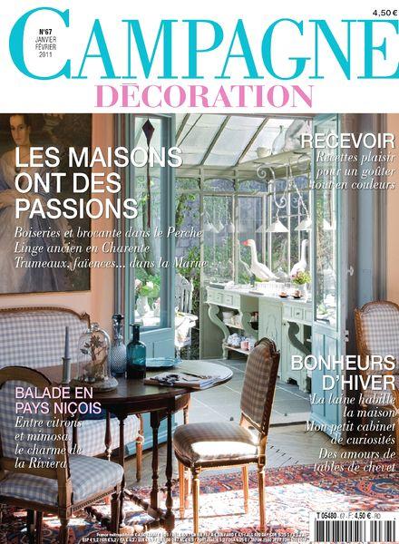 download campagne decoration 67 january february 2011 pdf magazine. Black Bedroom Furniture Sets. Home Design Ideas