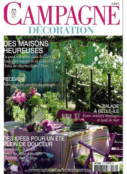 download campagne decoration 70 july august 2011 pdf magazine. Black Bedroom Furniture Sets. Home Design Ideas
