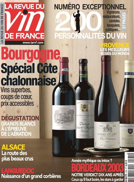 Download la revue du vin de france n 570 avril 2013 pdf for Revue des vins de france