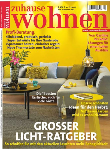 download zuhause wohnen oktober 2013 pdf magazine. Black Bedroom Furniture Sets. Home Design Ideas