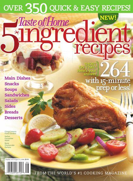 Taste of Home – 5 Ingredient Recipes-2008