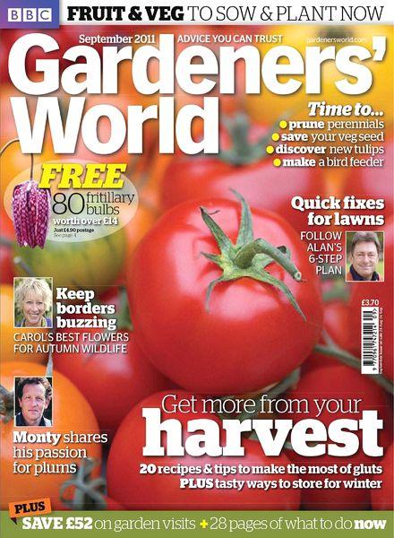 download bbc gardeners world september 2011 pdf magazine