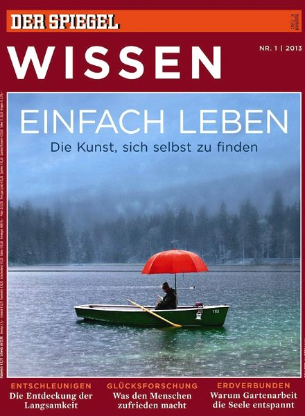 download spiegel wissen 01 2013 einfach leben pdf magazine. Black Bedroom Furniture Sets. Home Design Ideas