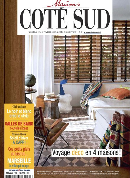 download maison cote sud n 134 02 03 2012 pdf magazine. Black Bedroom Furniture Sets. Home Design Ideas