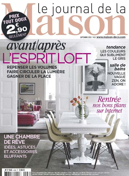download le journal de la maison n 450 2012 09 pdf magazine. Black Bedroom Furniture Sets. Home Design Ideas