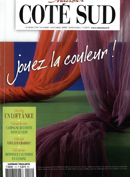 download maison cote sud n 114 pdf magazine. Black Bedroom Furniture Sets. Home Design Ideas