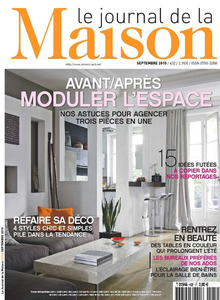 download le journal de la maison n 432 pdf magazine. Black Bedroom Furniture Sets. Home Design Ideas