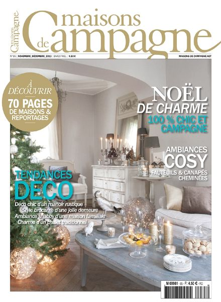 download maisons de campagne n 85 novembre decembre 2013 pdf magazine. Black Bedroom Furniture Sets. Home Design Ideas