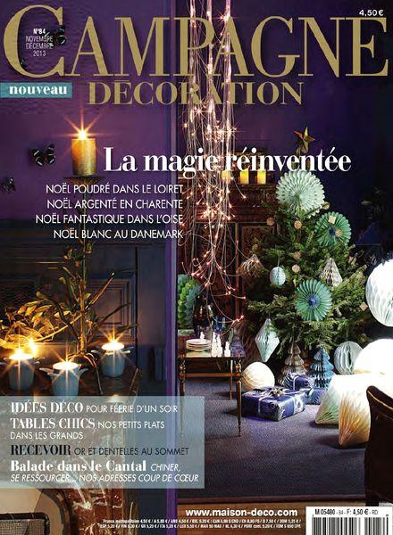 download campagne decoration n 84 novembre decembre 2013 pdf magazine. Black Bedroom Furniture Sets. Home Design Ideas