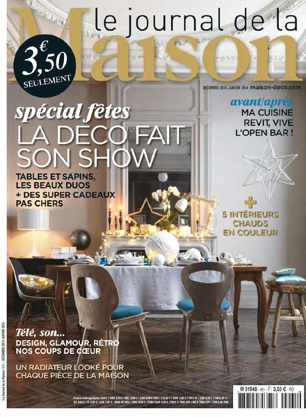 download le journal de la maison n 461 decembre 2013 janvier 2014 pdf magazine. Black Bedroom Furniture Sets. Home Design Ideas