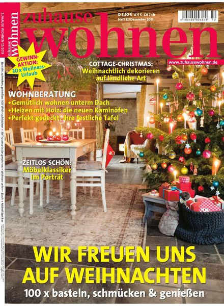 download zuhause wohnen magazin dezember 2013 pdf magazine. Black Bedroom Furniture Sets. Home Design Ideas