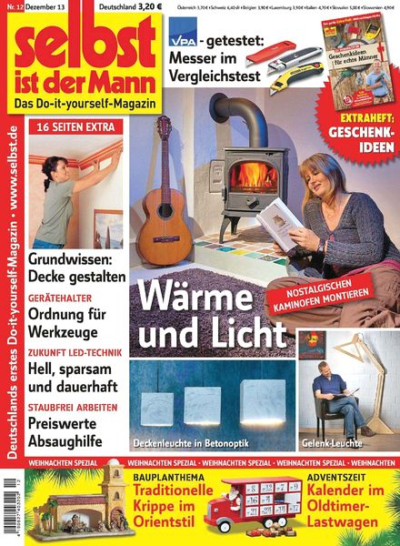 download selbst ist der mann dezember 2013 pdf magazine. Black Bedroom Furniture Sets. Home Design Ideas