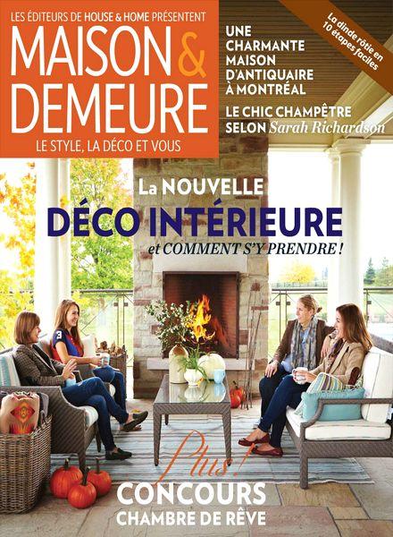 Download maison demeure octobre 2013 pdf magazine - Maison demeure magazine ...