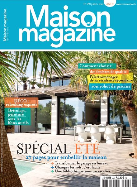 Download maison magazine n 290 juillet aout 2013 pdf for Magazine maison