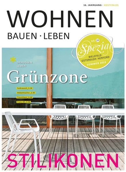 download wohnen bauen leben sommer 2013 pdf magazine. Black Bedroom Furniture Sets. Home Design Ideas