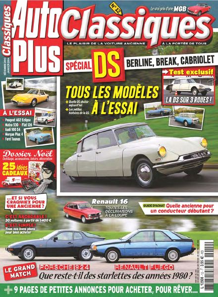 download auto plus classiques n 12 decembre 2013 janvier 2014 pdf magazine. Black Bedroom Furniture Sets. Home Design Ideas