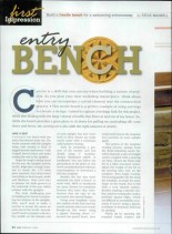 Canadian Home Workshop -  Entry Bench_01