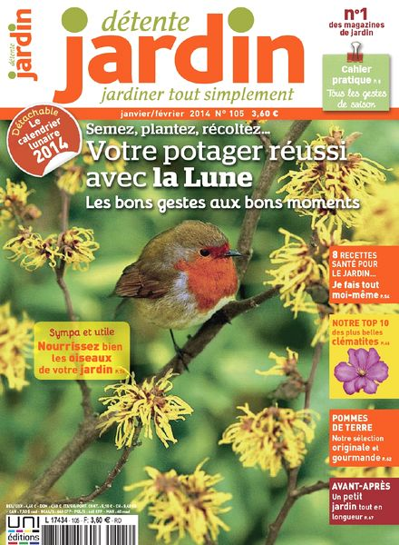 Download detente jardin n 105 janvier fevrier 2014 pdf for Jardin fevrier