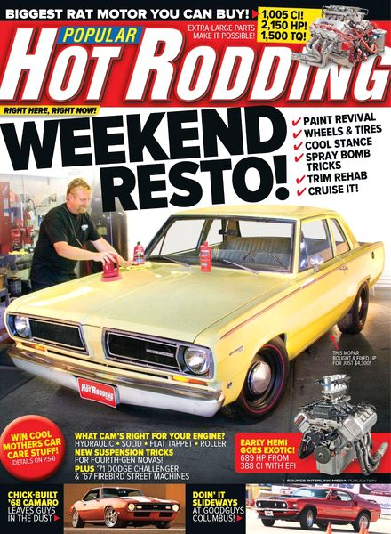Popular Hot Rodding Magazine 1990 - Near Complete Year - 9 Full Issues