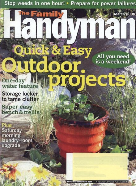 Download the family handyman 486 2008 03 pdf magazine for The family handyman pdf