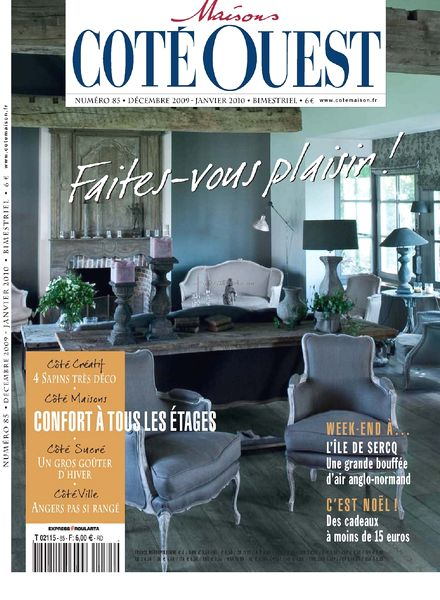 download maison cote ouest n 85 12 2009 01 2010 pdf magazine. Black Bedroom Furniture Sets. Home Design Ideas