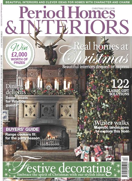 download period homes amp interiors magazine christmas issue