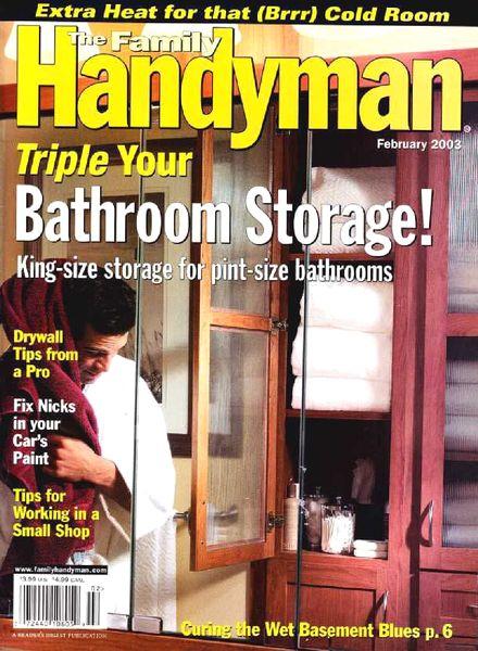 Download The Family Handyman 435 2003 02 Pdf Magazine
