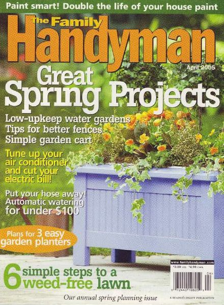 Download the family handyman 457 2005 04 pdf magazine for The family handyman pdf