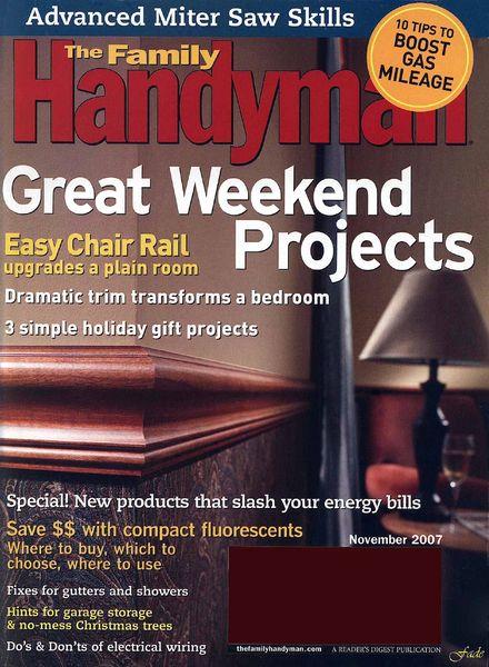 Download The Family Handyman 483 2007 11 Pdf Magazine