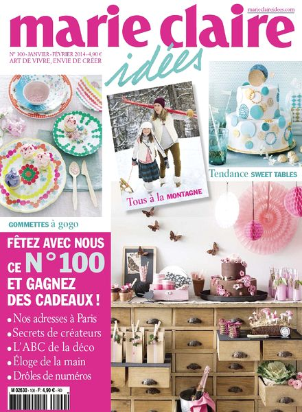download marie claire idees n 100 janvier fevrier 2014 pdf magazine