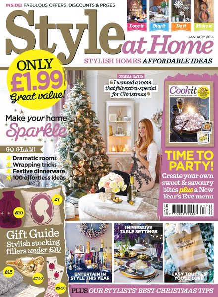 Download Style At Home UK January 2014 PDF Magazine