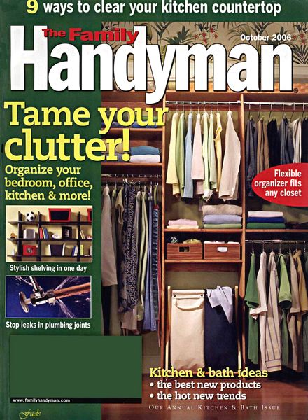 Download the family handyman 472 2006 10 pdf magazine for The family handyman pdf