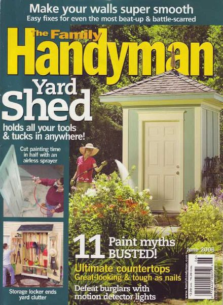 Download the family handyman 469 2006 06 pdf magazine for The family handyman pdf