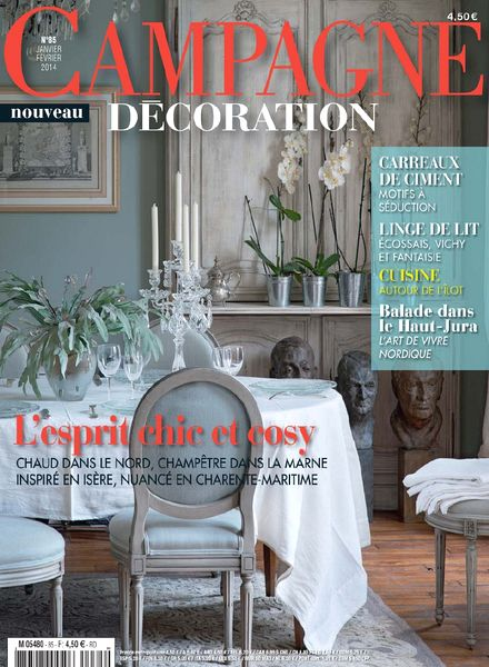 download campagne decoration n 85 janvier fevrier 2014 pdf magazine. Black Bedroom Furniture Sets. Home Design Ideas