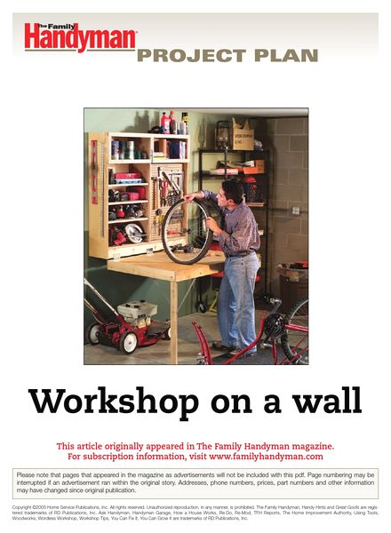 Download the family handyman workshop on a wall pdf magazine for The family handyman pdf