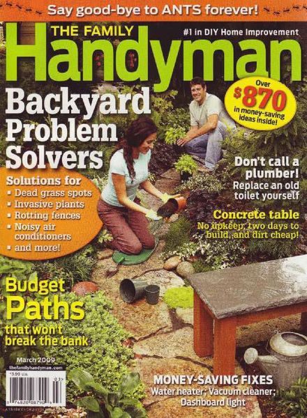 Download the family handyman 496 2009 03 pdf magazine for The family handyman pdf