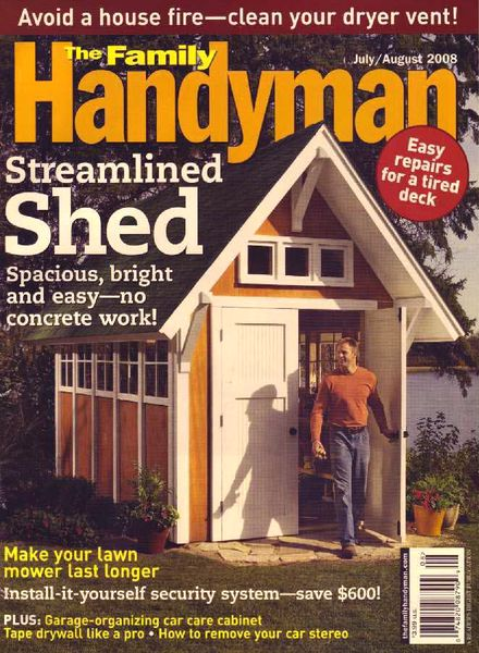 Download the family handyman 490 2008 07 pdf magazine for The family handyman pdf