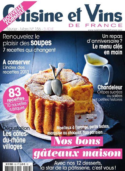 Download cuisine et vins de france n 156 fevrier mars for Cuisine et vins de france