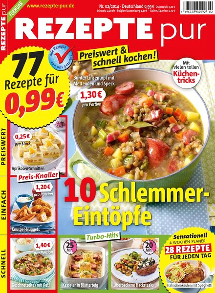 Rezepte Pur De rezepte pur magazin februar n 02 2014 pdf magazine