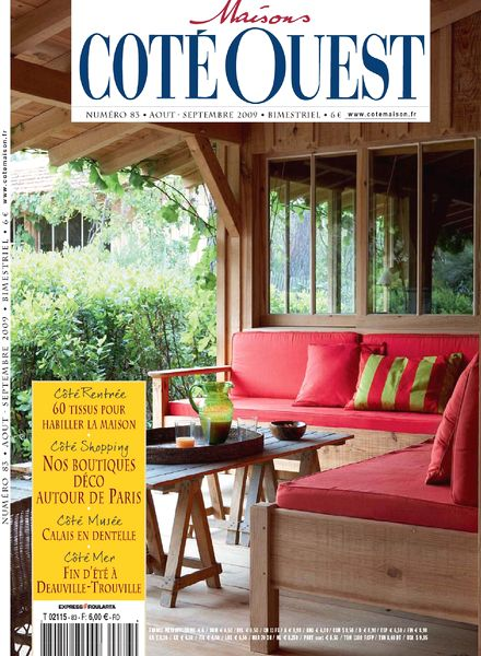 download maison cote ouest n 83 8 9 2009 pdf magazine. Black Bedroom Furniture Sets. Home Design Ideas