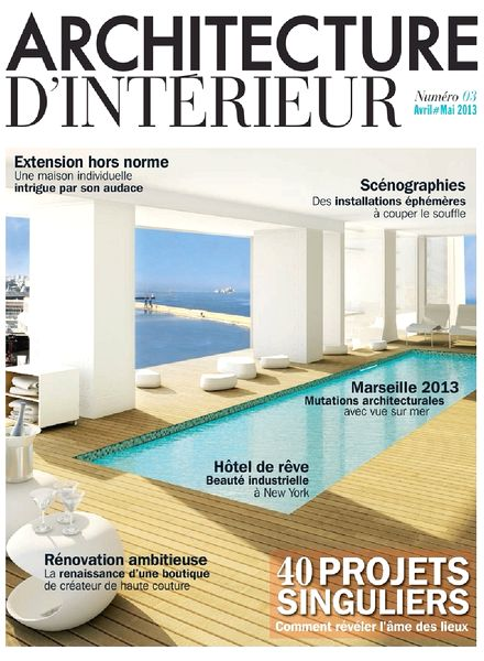download architecture d interieur magazine n 03 pdf magazine. Black Bedroom Furniture Sets. Home Design Ideas