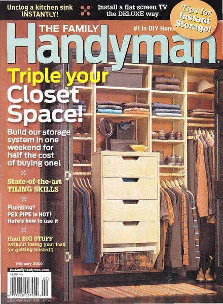 Download The Family Handyman January 2010 Pdf Magazine