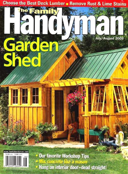 Download the family handyman 440 2003 07 pdf magazine for The family handyman pdf