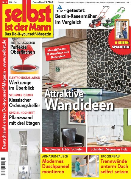 download selbst ist der mann marz 03 2014 pdf magazine. Black Bedroom Furniture Sets. Home Design Ideas